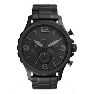 【FOSSIL】重裝教士三眼運動計時腕錶(全黑 JR1401)