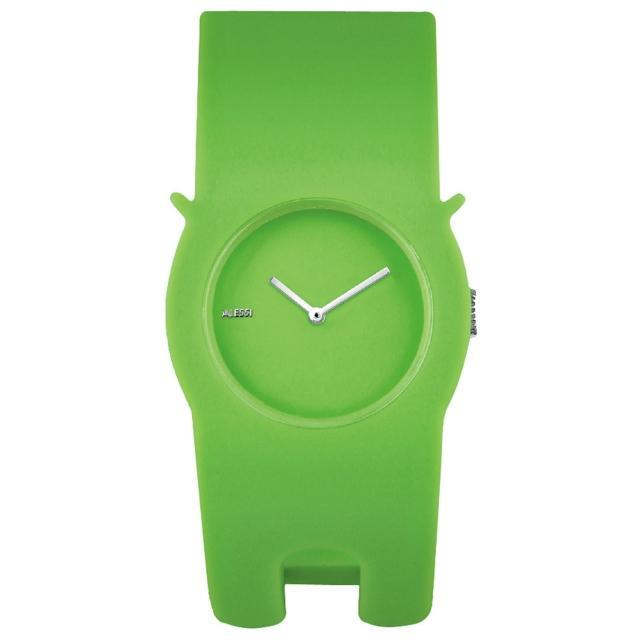 【ALESSI】慵懶的貓造型手環錶-綠(AEAL24002)