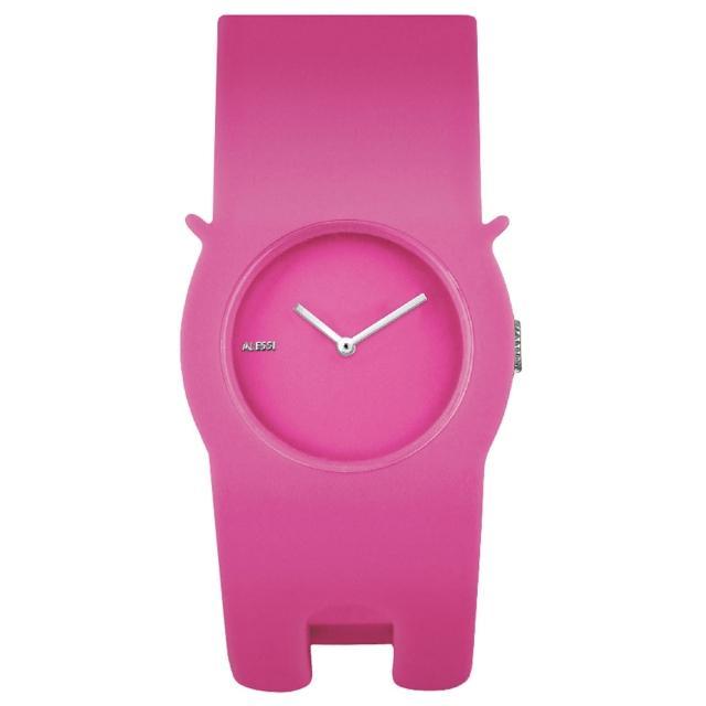 【ALESSI】慵懶的貓造型手環錶-粉紅(AEAL24004)