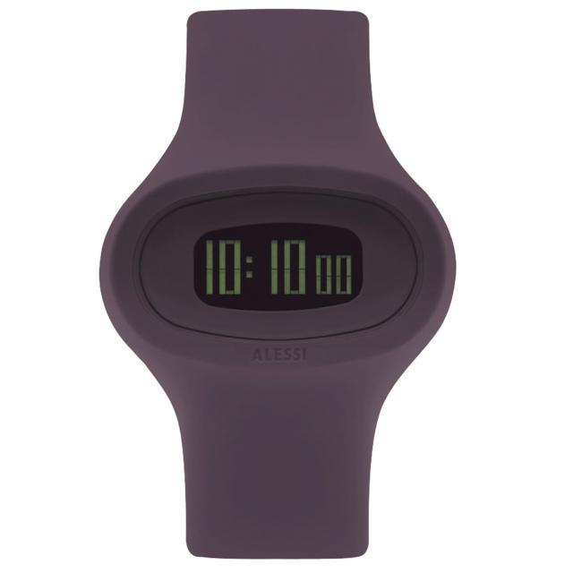 【ALESSI】清晰潮流電子腕錶-紫(AEAL25004)