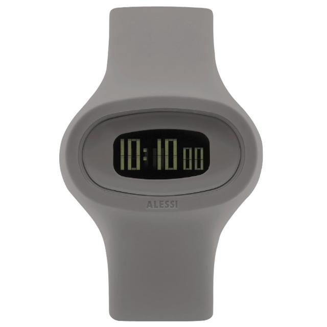 【ALESSI】清晰潮流電子腕錶-灰(AEAL25005)