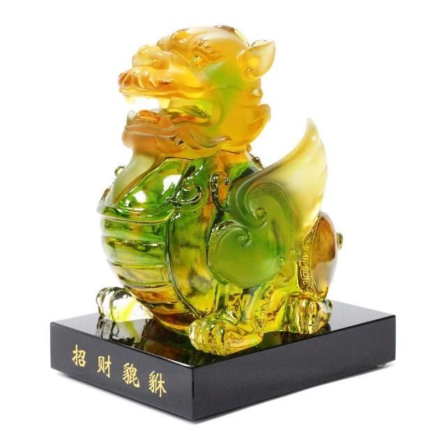 【三卡寶精品】文人書房必備-招財貔貅-公琉璃(擺飾/擺件)