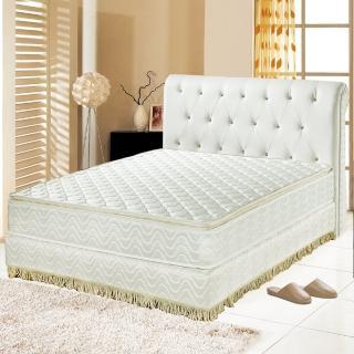 【睡芝寶】正四線乳膠-3M防潑水蜂巢式獨立筒床墊(雙人加大6尺)