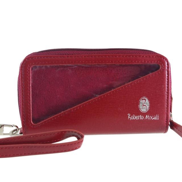 【Roberto Mocali】手機袋/雙拉鋉手拿包(RM-8109R-1)