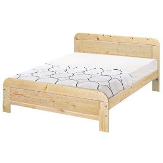 【顛覆設計】奧汀白松木5尺雙人床架(不含床墊)