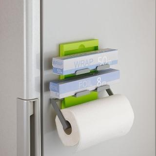 【日本Belca】磁吸式保鮮膜紙巾架(蘋果綠)
