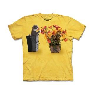 【摩達客】美國進口 The Mountain 花與小貓 T恤