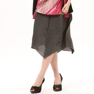 【羽生摺衣】OL風情-壓褶花苞裙(共三色)