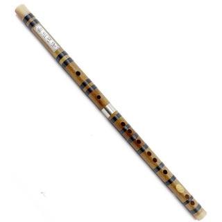 【集樂城樂器】杭州.余杭JYC 817石斑竹單接白銅鑲骨笛(手工精緻)