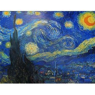 【開運陶源】梵谷Starry starry night 大幅(星月夜 星空)