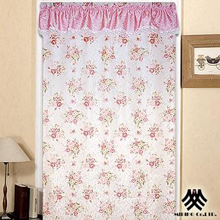 【M.B.H-玫瑰花園】一片式開運風水簾(粉)