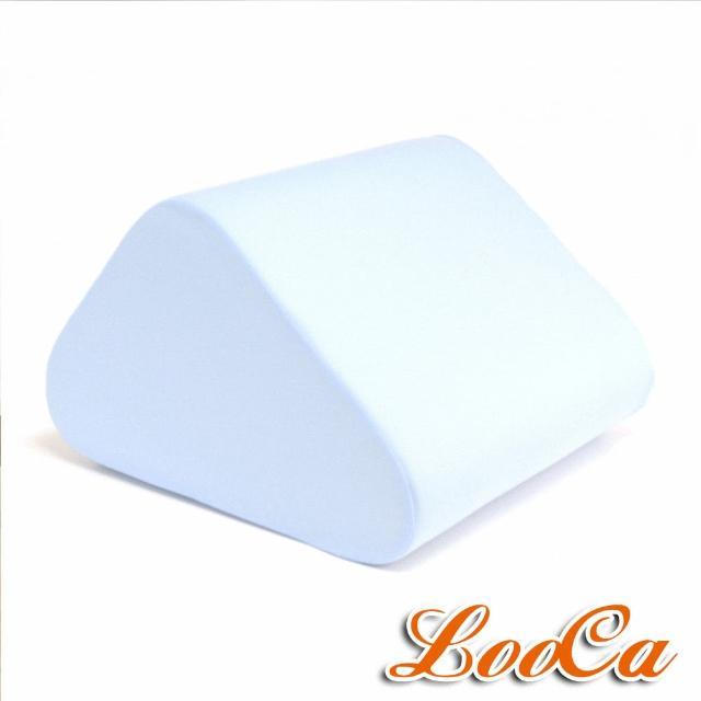 【LooCa】吸濕排汗萬用三角靠墊(藍)