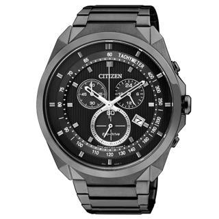 【CITIZEN】率性雅爵光動能三環腕錶(黑 AT2155-58E)