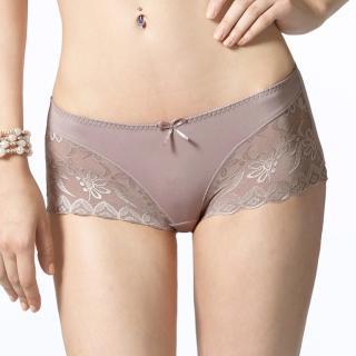 【LADY】悸動系列 中低腰平口褲(榛果棕)