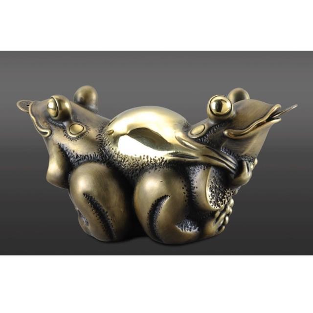 【雕塑藝術大師 羅廣維】開運陶源 青蛙銅雕禮品(挖寶/蛙寶)