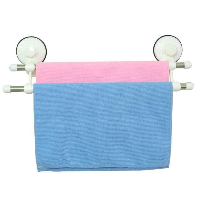 好犀利極簡雙桿衛浴毛巾架