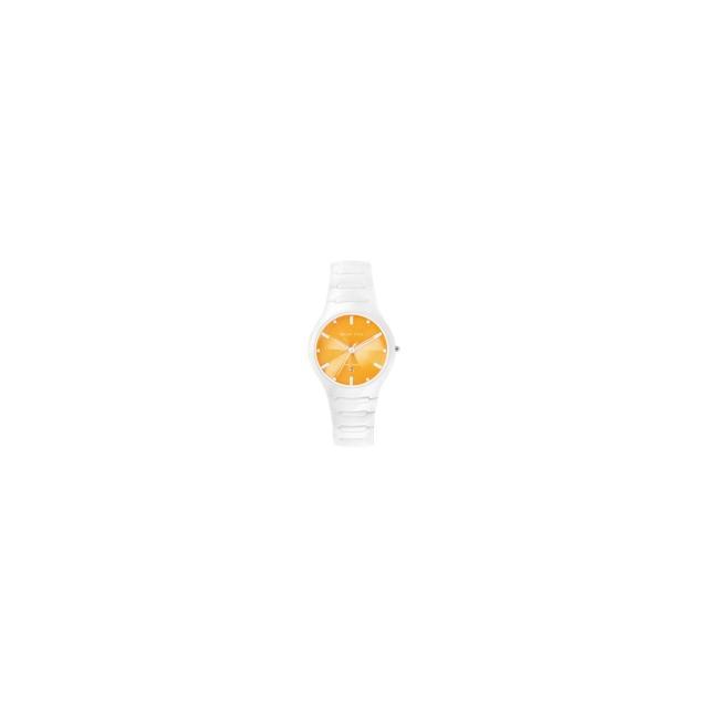 【Relax Time】馬卡龍系列陶瓷腕錶-白/橙(RT-26-19)