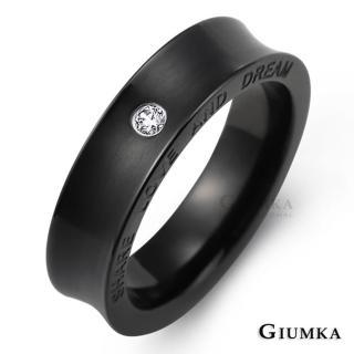 【GIUMKA】情侶對戒 情定三生 珠寶白鋼鋯石情人戒指 MR00614(黑色寬版)