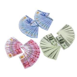 【金發財金紙】冥國台幣人民幣美金 三合一各 500張(金紙-冥界財富系列)