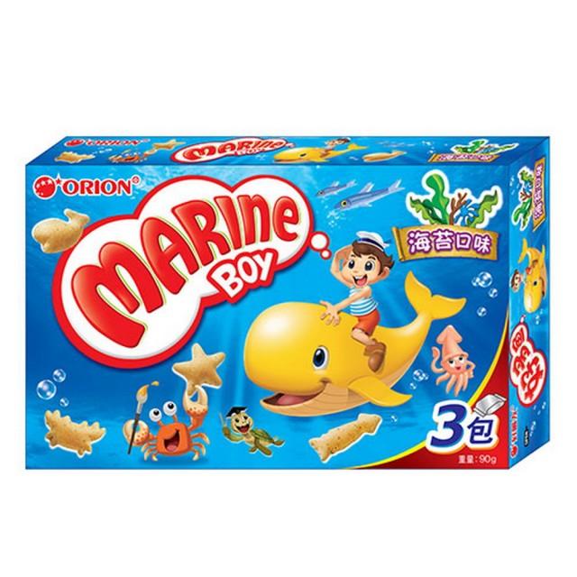 【ORION】好麗友好多魚餅乾-海苔口味(90g)