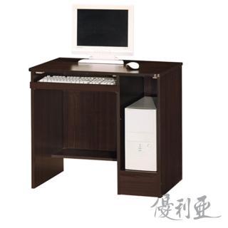【優利亞-諾貝爾】2.5尺木心板電腦桌(2色可選)