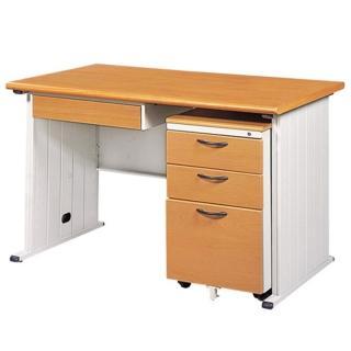 【時尚屋】4尺STHA木紋辦公桌櫃組(含中抽+活動櫃)