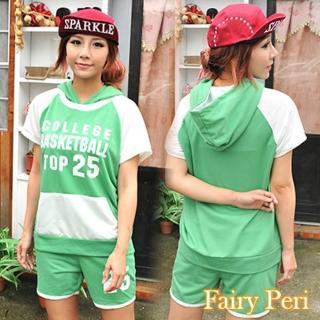 【Fairy Peri】草綠時尚休閒運動褲裝