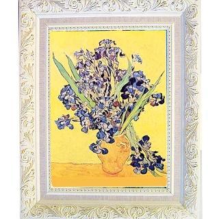 【開運陶源】《黃瓶中鳶尾花》梵谷名畫(中幅)
