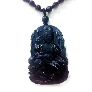 國際級玉雕大師張春風一竹林觀音和闐脂級墨玉(限定臻藏)