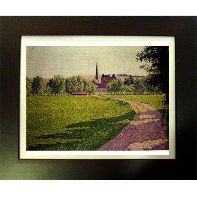 【開運陶源】Lucien Pissarro路西安畢沙羅 名畫(厄哈格尼教堂)