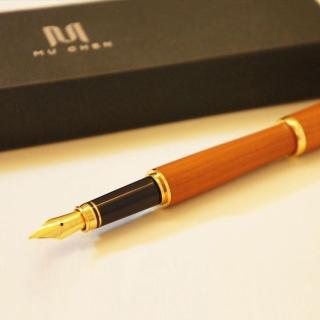 【荒木雕塑藝品】紅豆杉鋼筆