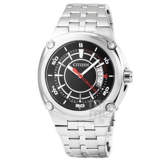 【CITIZEN】星辰OXY超霸石英鋼帶錶-黑(BK2530-50E)