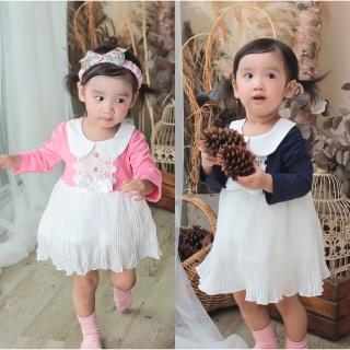 【BABY童衣】公主造型 百摺包屁裙 蕾絲珍珠經典洋裙 37227(共二色)