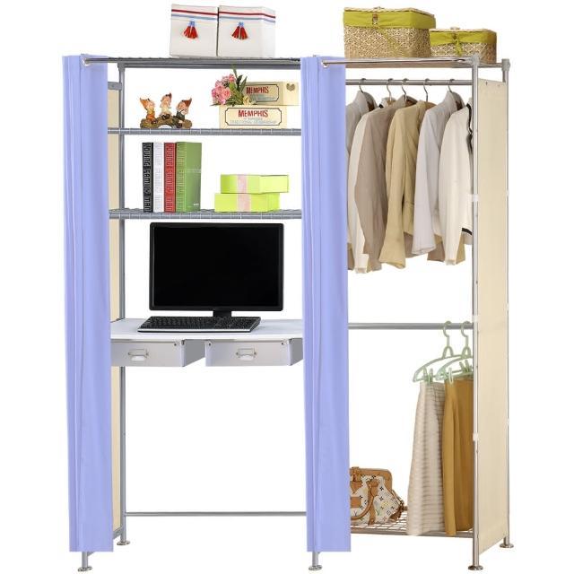 【巴塞隆納】W2型60公分+E90公分電腦桌衣櫥架