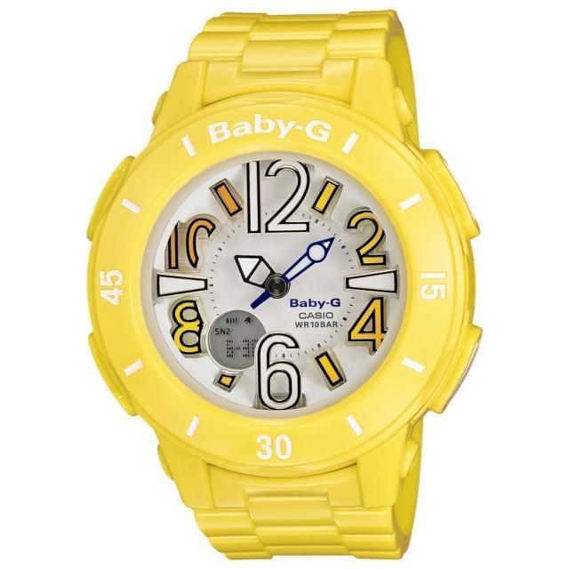 【CASIO】BABY-G 斑瀾仲夏時尚運動腕錶(黃 BGA-170-9BDR)