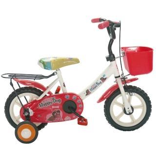 【Adagio】12吋酷樂狗輔助輪童車附置物籃(紅色)