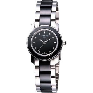 【TISSOT】T-Cera 陶瓷系列真鑽腕錶-黑(T0642102205600)