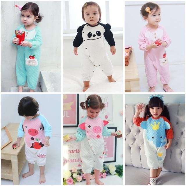 【BABY童衣】可愛動物造型空氣棉長袖連身衣37043(共六色)