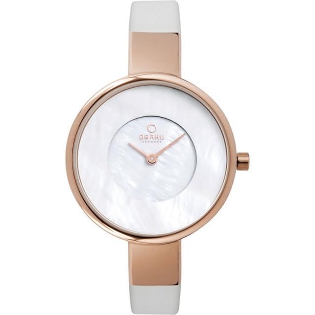 【OBAKU】采麗時刻時尚腕錶-玫瑰金(V149LVWRW)