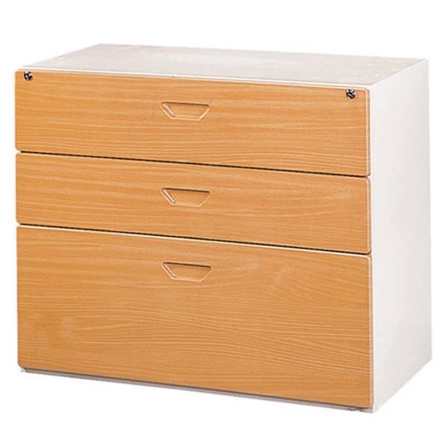 【時尚屋】三層抽屜式鋼木櫃兩色可選(木紋色Y107-2、胡桃色Y110-11)