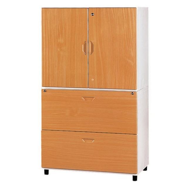 【時尚屋】鋼木牆櫃兩色可選(木紋色Y108-3、胡桃色Y109-5)