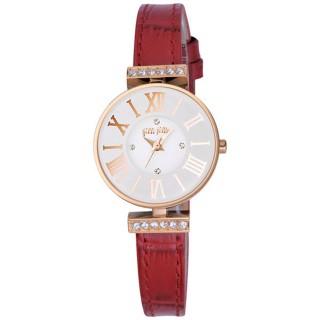 【Folli Follie】歐風時尚晶鑽腕錶-紅(WF13B014SSW-RE)