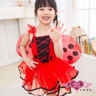 【天使霓裳】俏皮瓢蟲公主 萬聖節童裝系列(紅)