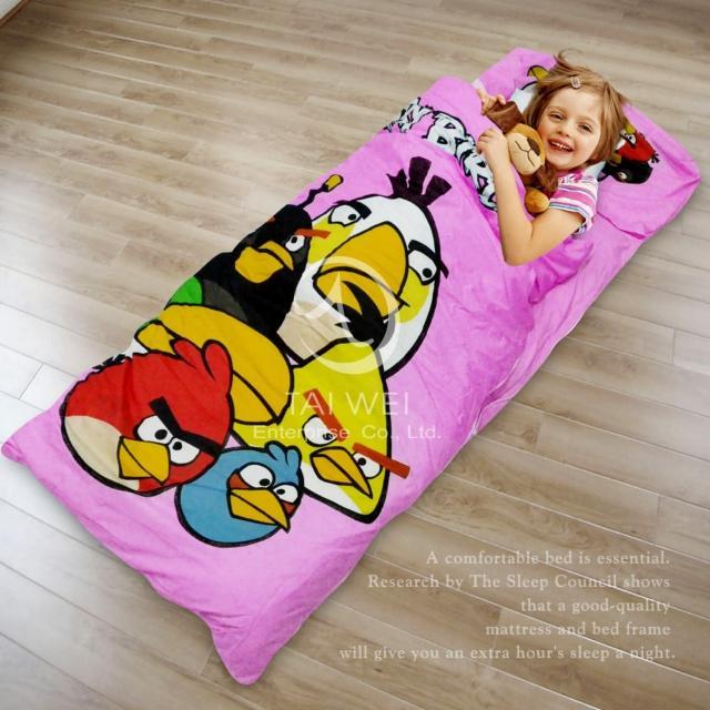 【憤怒鳥ANGRY BIRDS】集合#兒童睡袋(粉)