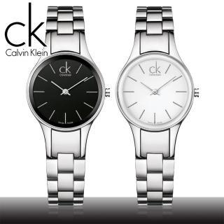 【瑞士 CK手錶 Calvin Klein】黑面藍寶石水晶摩登極簡風女錶(K4323130-K4323126)