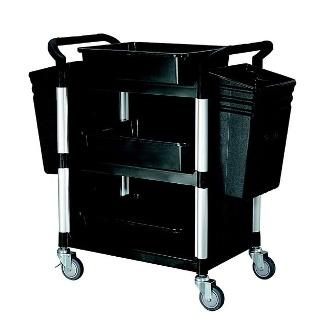 【COLOR】精緻標準型3層三面圍邊工具/餐推車(全配件/高級儀器輪)