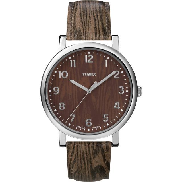 【TIMEX】復刻系列經典工藝時尚腕錶-木紋(T2P221)