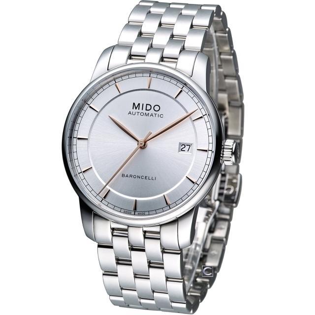 【MIDO 美度】Baroncelli 永恆系列復刻紳士腕錶(M86004101)