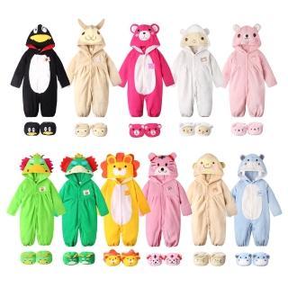 【BABY童衣】秋冬動物造型搖粒絨前開扣 2件套裝 35201(共11色)