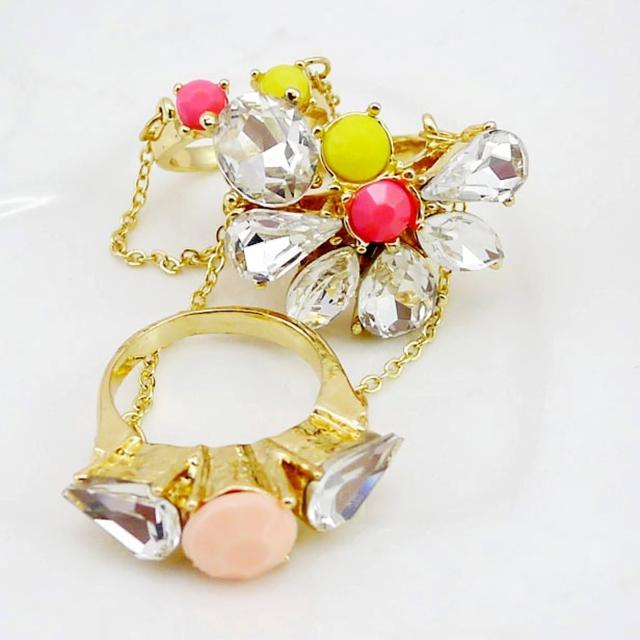 【Lady c.c.】節節分明閃耀美鑽戒指(2色)